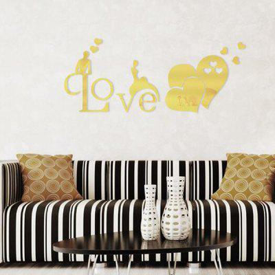 3D Mirror Effect Wall Sticker