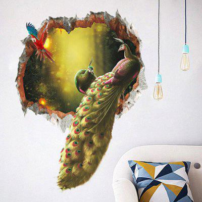 Peacock 3D Wall Sticker Wallpaper