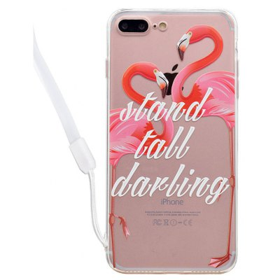 Flamingo Acrylic Phone Cover for iPhone 7 Plus