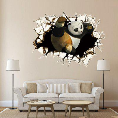 DSU Panda Pattern Three-Dimensional Sticker