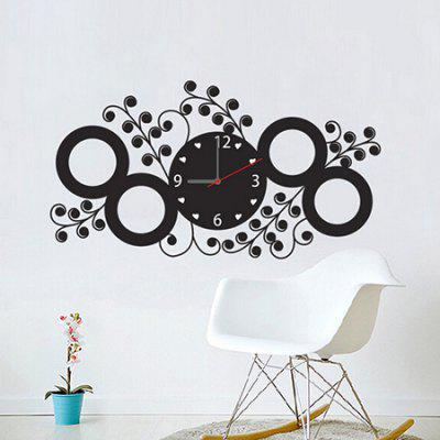 PVC Home Decor Clock Shape Sticker
