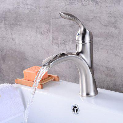 Silver Single Handle One Hole Bathroom Sink Faucet  $73.98 Online Shopping|  GearBest.com