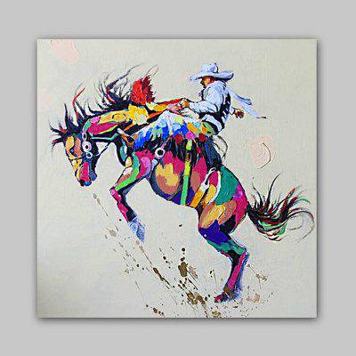 Happy Art Canvas Oil Painting Abstract People Hand Painted 220026301