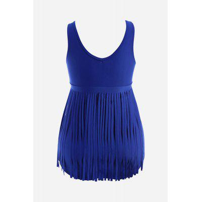 One-piece Fringe Bikini for WomenWomens Swimwear<br>One-piece Fringe Bikini for Women<br><br>Elasticity: Super-elastic<br>Material: Polyester<br>Neckline: Round Collar,U Neck<br>Package Contents: 1 x One-piece Swimsuit<br>Package size: 20.00 x 20.00 x 20.00 cm / 7.87 x 7.87 x 7.87 inches<br>Package weight: 0.2900 kg<br>Product weight: 0.2500 kg<br>Swimwear Type: One Piece