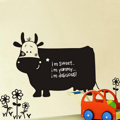 Cow Blackboard Removable Waterproof Wall Sticker