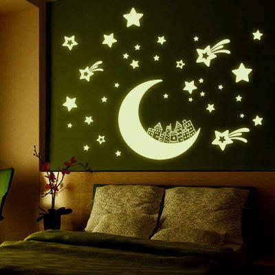 Moon Star Shape Design Luminous Wall Sticker