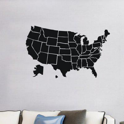 Creative DIY American Map Wall Sticker