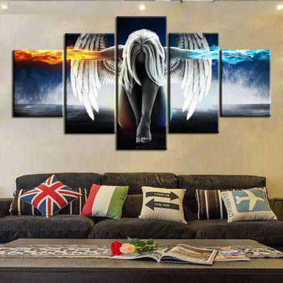 5PCS Printed Angel Wings Painting Canvas Print Room DecorPrints<br>5PCS Printed Angel Wings Painting Canvas Print Room Decor<br><br>Craft: Print<br>Form: Five Panels<br>Material: Canvas<br>Package size (L x W x H): 52.00 x 6.00 x 6.00 cm / 20.47 x 2.36 x 2.36 inches<br>Package weight: 0.1800 kg<br>Painting: Without Inner Frame<br>Product size (L x W x H): 100.00 x 50.00 x 1.00 cm / 39.37 x 19.69 x 0.39 inches<br>Product weight: 0.0970 kg<br>Shape: Any Shape<br>Style: Others<br>Subjects: Others<br>Suitable Space: Bedroom,Dining Room,Hallway,Indoor,Kids Room,Living Room,Pathway
