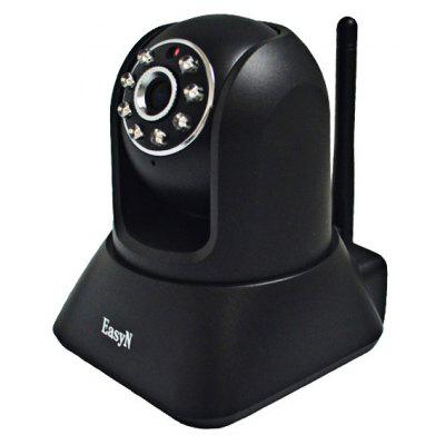 EasyN F3-M187B 1/4 CMOS 30,000 Pixel 3.6mm Wireless IP Camera Cam with Night Version Function - Black
