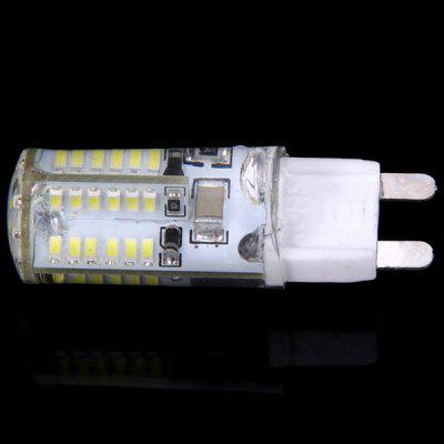 G9 58Pcs 3014 SMD LEDs 6W 220V Warm White Light Corn LampLED Bi-pin Lights<br>G9 58Pcs 3014 SMD LEDs 6W 220V Warm White Light Corn Lamp<br><br>Available Light Color: Natural White,Warm White<br>Bulb Base Type: G9<br>Features: Long Life Expectancy, Low Power Consumption, Energy Saving<br>Function: Home Lighting, Commercial Lighting, Studio and Exhibition Lighting<br>Output Power: 6W<br>Package Contents: 1 x Corn Light<br>Package size (L x W x H): 6.00 x 2.00 x 2.00 cm / 2.36 x 0.79 x 0.79 inches<br>Package weight: 0.6000 kg<br>Product size (L x W x H): 1.00 x 1.00 x 4.70 cm / 0.39 x 0.39 x 1.85 inches<br>Product weight: 0.0100 kg<br>Sheathing Material: Acrylic<br>Total Emitters: 58 x 3014 SMD LED<br>Type: Corn Bulbs<br>Voltage (V): AC 220