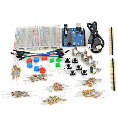 X1301 UNO R3 Development Board Starter Kit with Basic Component Pack Set for Arduino Workshop Beginners