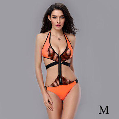 T138 Stylish One - piece Sexy Bikini Swimwear Hot Spring Bathing Suit for Women