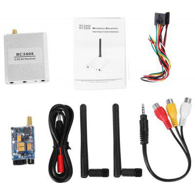 5.8G FPV 200mW AV Wireless Transmitter TX 5.8GHz Rx Receiver Kit 2000M