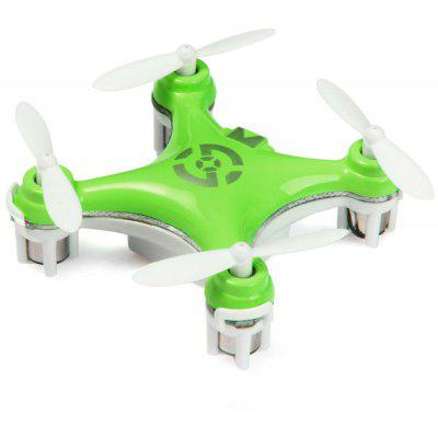 Cheerson CX - 10 Portable 2.4G 4CH 6 Axis Gyro RC Quadcopter with Night Light Wonderful for Christmas Eve- GREEN