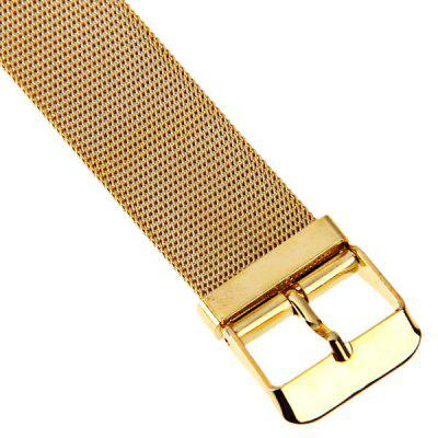 Men Watch with Quartz Round Dial Gold Plating WatchbandMens Watches<br>Men Watch with Quartz Round Dial Gold Plating Watchband<br><br>Available Color: White<br>Band color: Gold<br>Band material: Gold Plated<br>Case color: Gold<br>Case material: Stainless Steel<br>Clasp type: Pin buckle<br>Movement type: Quartz watch<br>Package Contents: 1 x Watch<br>Package size (L x W x H): 24 x 4.8 x 1.8 cm<br>Package weight: 0.080 kg<br>Product size (L x W x H): 23 x 3.8 x 0.8 cm<br>Product weight: 0.054 kg<br>Shape of the dial: Round<br>Style elements: Between gold<br>The bottom of the table: Ordinary<br>The dial diameter: 3.8 cm<br>The dial thickness: 0.8 cm<br>Watch style: Fashion<br>Watch-head: Ordinary<br>Watches categories: Male table<br>Water resistance: Life waterproof