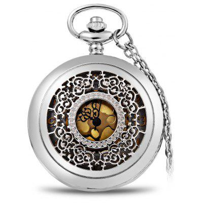 Quartz Pocket Watch Big Round Dial with Hanging Neck Chain