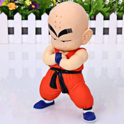 Buy Highly Detailed Dragon Ball Super Cool Kuririn Figure PVC Figure Model Toy for Cartoon Fans for $8.37 in GearBest store