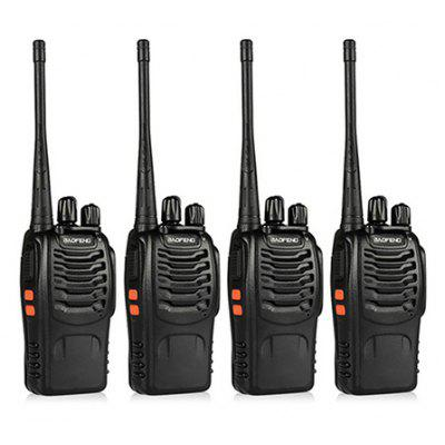 4PCS BAOFENG BF - 888S Wireless Handheld Walkie Talkie