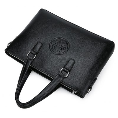 Men Casual Business PU Shoulder Bag
