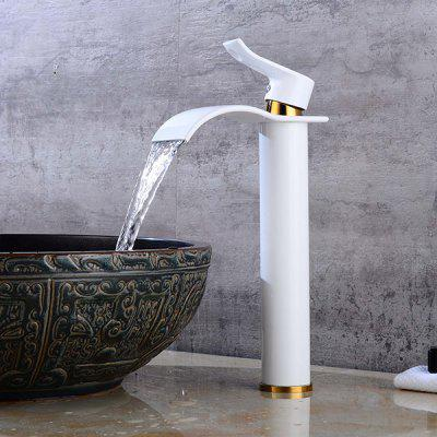 Buy WHITE LING HAO HL 1011 Waterfall Bathroom Sink Faucet for $85.17 in GearBest store