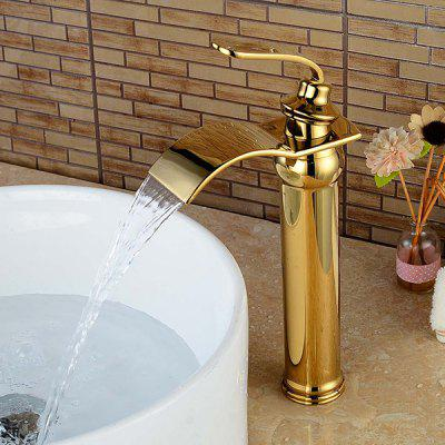LING HAO HL - 124 Modern Gold-plated Basin Faucet