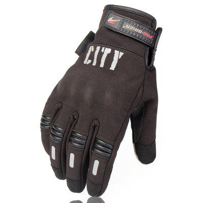 PRO   BIKER A41 Paired Motorcycle Racing Gloves Cotton Winter Keeping Warm Touch Screen Off Road Equipment