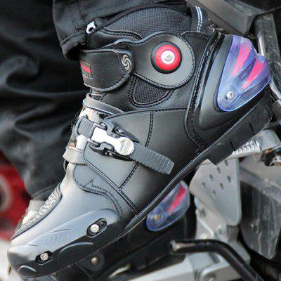 PROBIKER A9003 Short Light Type Motorcycle Racing BootsOther  Motorcycle Accessories<br>PROBIKER A9003 Short Light Type Motorcycle Racing Boots<br><br>Accessories type: Motorcycle Shoes<br>Available Size: US8.5 - 13<br>Boot Height: Ankle<br>Gender: Men<br>Package Contents: 1 x Pair of Shoes<br>Package size (L x W x H): 50.00 x 30.00 x 10.00 cm / 19.69 x 11.81 x 3.94 inches<br>Package weight: 1.3200 kg<br>Product weight: 1.3000 kg<br>Size: US9