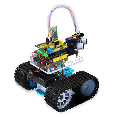 Keyestudio TS - 50 Mini Bluetooth Tank Robot Smart Car KitRobot<br>Keyestudio TS - 50 Mini Bluetooth Tank Robot Smart Car Kit<br><br>Brand: Keyestudio<br>Model: TS - 50<br>Package Size(L x W x H): 21.00 x 13.00 x 6.00 cm / 8.27 x 5.12 x 2.36 inches<br>Package weight: 1.0530 kg<br>Power Supply: 7 - 12V<br>Product Size(L x W x H): 7.70 x 5.40 x 1.40 cm / 3.03 x 2.13 x 0.55 inches<br>Product weight: 0.6500 kg<br>Suitable for: Arduino