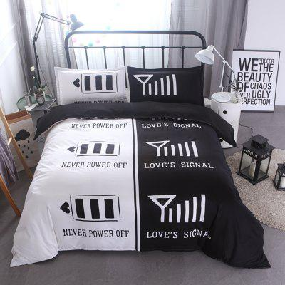 3 teilige bettw sche set romantische liebhaber signal. Black Bedroom Furniture Sets. Home Design Ideas