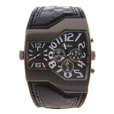Oulm Men Military Sports Watch Dual Movt Quartz Wristwatch with Leather Band Decorative Sub - dialsMens Watches<br>Oulm Men Military Sports Watch Dual Movt Quartz Wristwatch with Leather Band Decorative Sub - dials<br><br>Available Color: Black,White,Assorted Colors,Red,Blue,Orange<br>Band material: Leather<br>Brand: Oulm<br>Case material: Stainless Steel<br>Clasp type: Buckle<br>Movement type: Quartz watch<br>Package Contents: 1 x Watch<br>Package size (L x W x H): 27.5 x 6.5 x 2.5 cm<br>Package weight: 0.14 kg<br>Product size (L x W x H): 26.4 x 5.5 x 1.3 cm<br>Product weight: 0.09 kg<br>Shape of the dial: Round<br>Style elements: Big dial<br>The dial diameter: 5.3 cm<br>The dial thickness: 1.3 cm<br>Watch style: Military<br>Watches categories: Male table