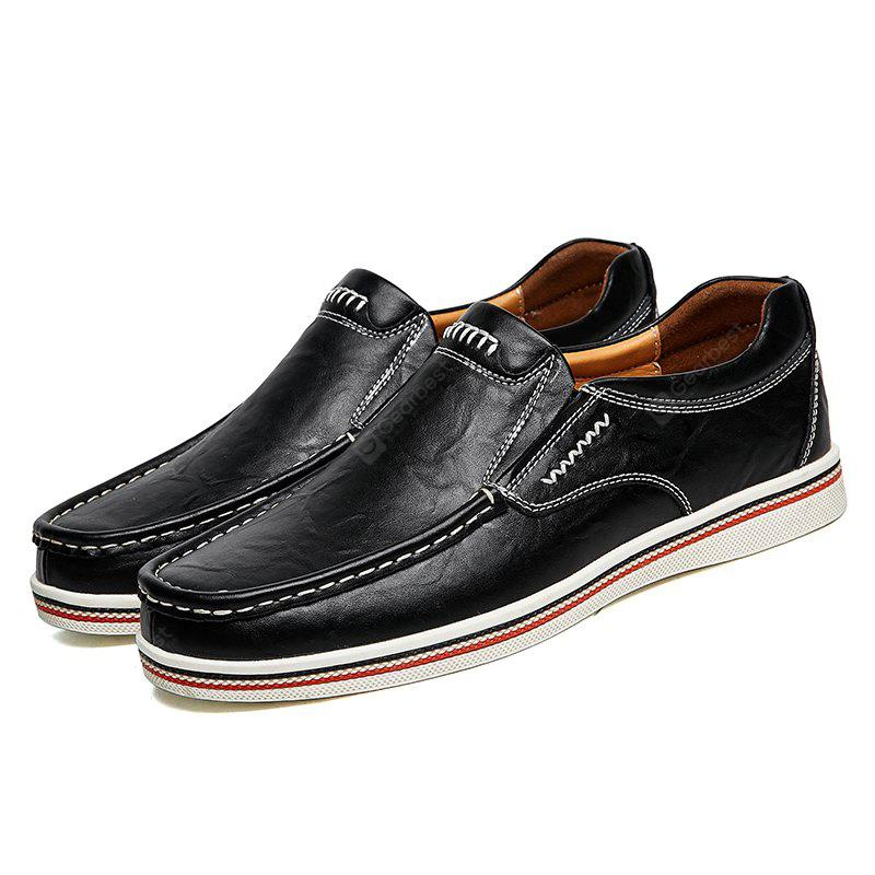Male Chic Stitching Leather Oxford Shoes