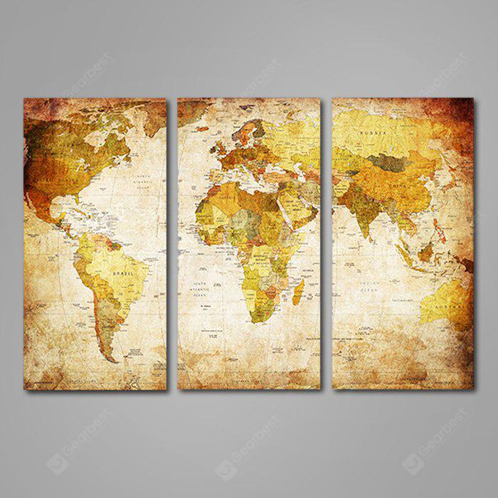 3pcs world map printed painting canvas print 1022 free shipping 3pcs world map printed painting canvas print gumiabroncs Gallery
