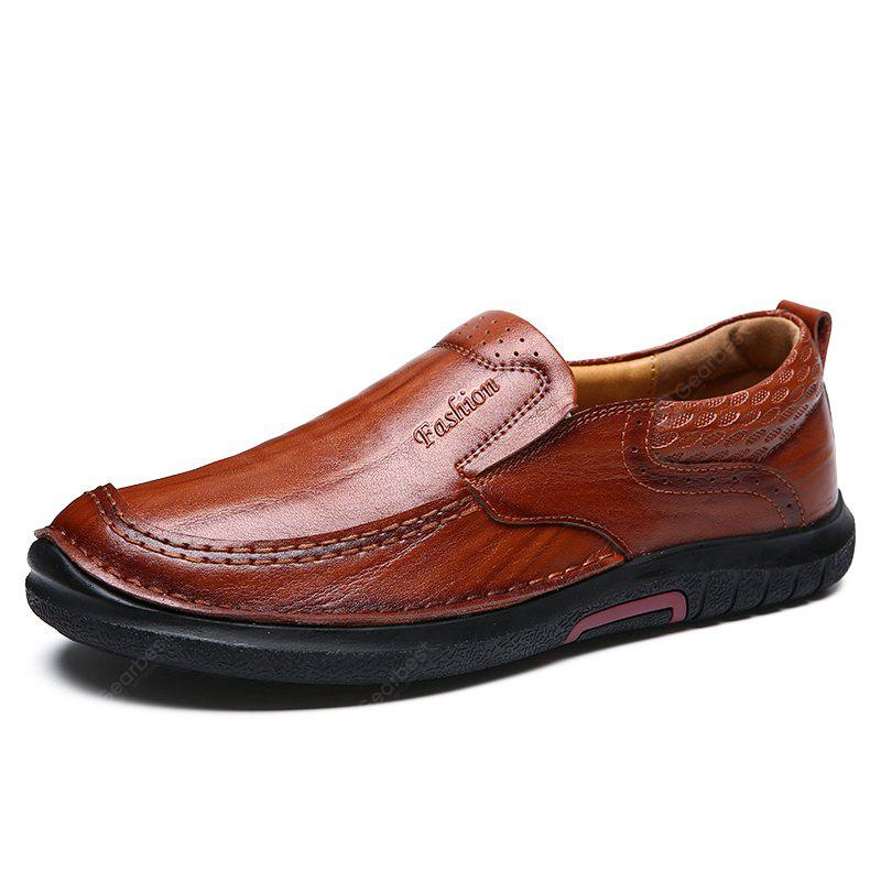 Men All-match Casual Business Slip-on Leather Shoes buy cheap release dates sale popular outlet excellent perfect cheap online explore for sale Gpqbzm79