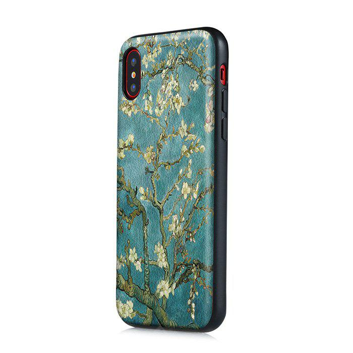 Flower Pattern Shockproof Back Cover Case for iPhone X
