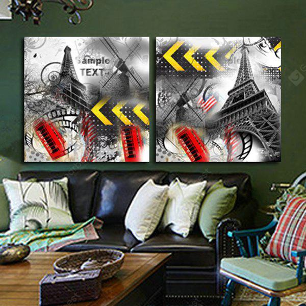 Tower Printing Canvas Wall Decoration 2pcs