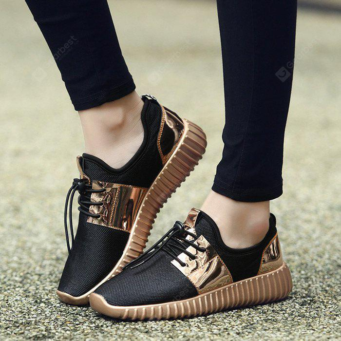 Summer Breathable Air-mesh Glossy Casual Shoes