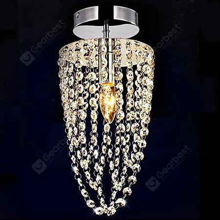 40W Modern Simple 1-light Crystal Ceiling Light 110V