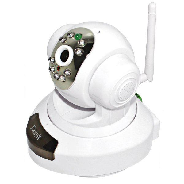 EasyN H3 - 186V CMOS 1.0MP IR Night Vision Wireless IP Camera 3.6mm Lens Cam, Support iPhone and Android Phone Connecting (White)