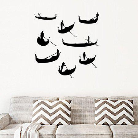 Decorative Dragon-boat Race Wall Sticker