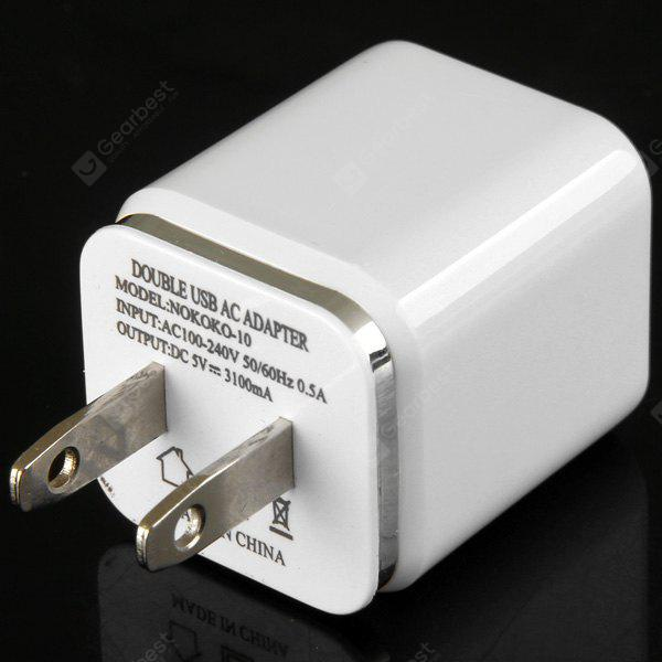 US Standard Double USB Charger Power Adapter