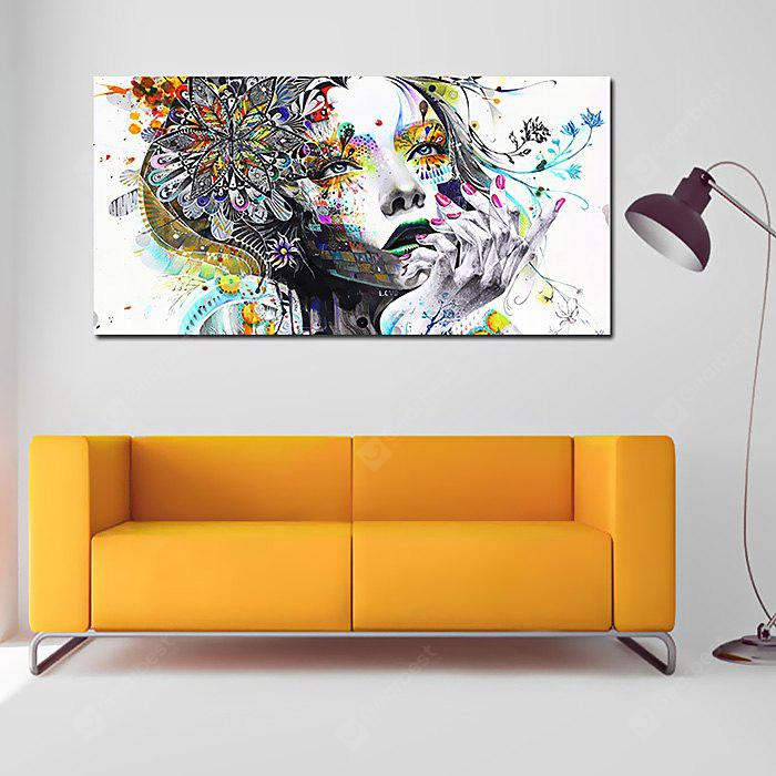 Hand Painted Colorful Beauty Face Oil Painting for Decor
