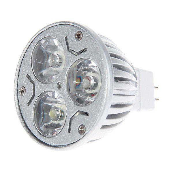Lampada de LED MR16 3W 3 LEDs Luz Quente Luminosa LED (AC 12V, 3000-3500K) Luz Branca