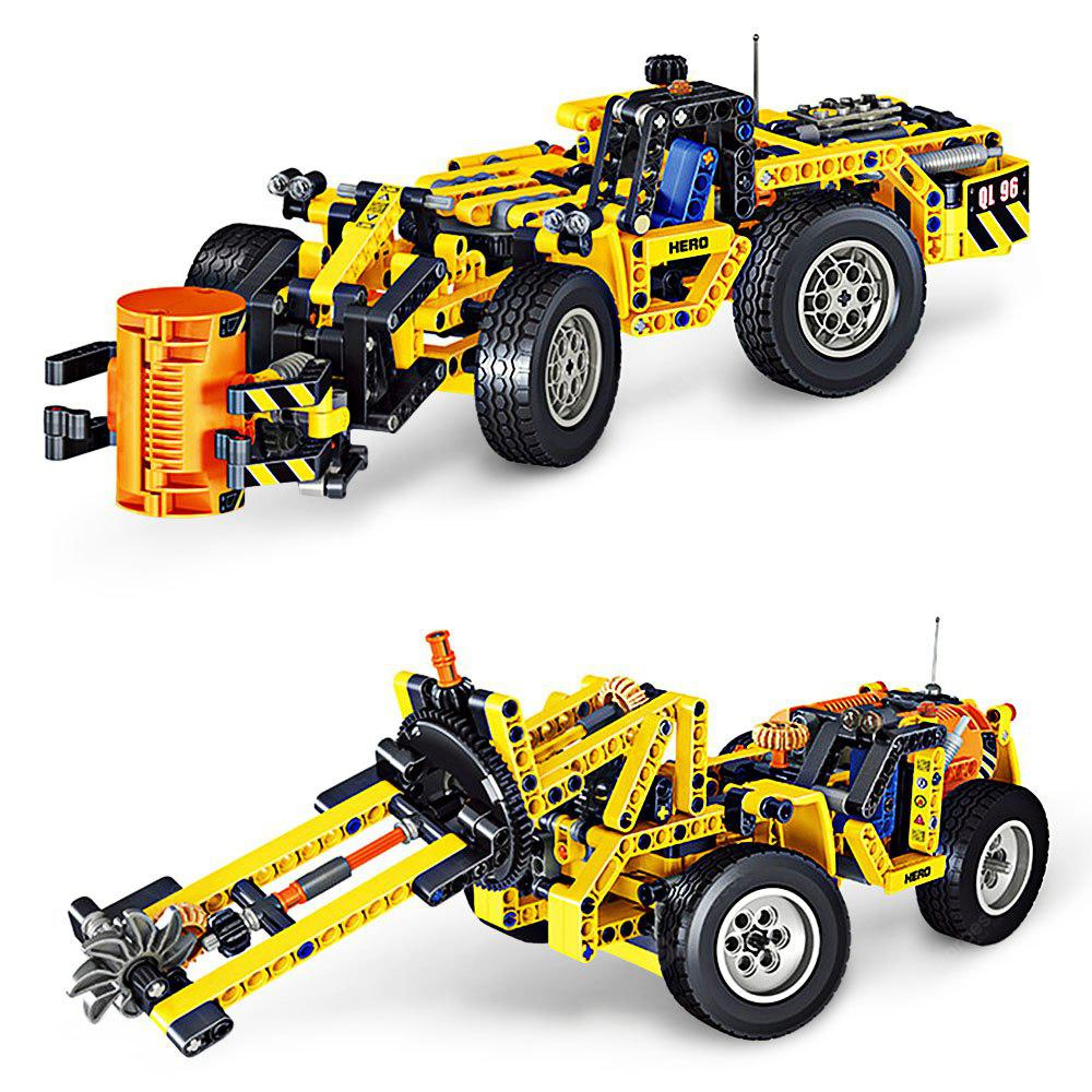 QUNLONG 2-in-1 ABS Building Block Puzzle Transformable Engineering / Harvester Car Intelligence Toy for Kids