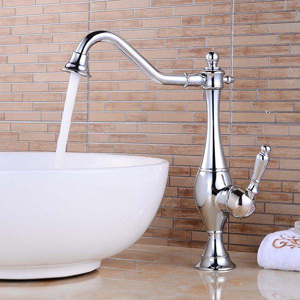 LING HAO HL - 118 Single Handle Chrome Sink Faucet