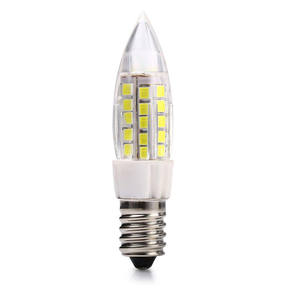 WHITE LIGHT 10PCS 10PCS E14 7W SMD 2835 480Lm LED Candle Bulb