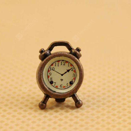 1:12 Scale Doll House Miniature Alarm Clock Toy
