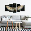 5PCS NO1  Canvas Prints Flying Night Owl Home Decoration - BLACK