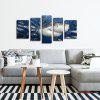 5PCS NO1 Canvas Prints Shark in Ocean Home Decoration - COLORMIX