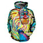 Cool Colorful 3D Printed Hooded Sweatshirt - COLORMIX