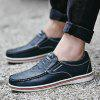 Male Chic Stitching Leather Oxford Shoes - BLUE